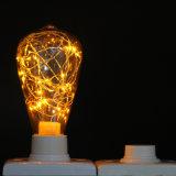 Nueva iluminación estrellada del bulbo del amarillo St64 LED del diseño para la decoración