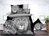 100% de poliéster de microfibra Bedsheet 3D/Bedding Define Edredão Conjunto da Tampa
