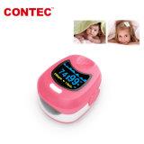 Cms50qb de Kleurrijke Leuke Veilige Impuls Oximeter van de Vertoning van de dubbel-Kleur OLED van Kinderen met de Navulbare Batterij van het Lithium Buttony van 20 Jaar van de Vervaardiging van China