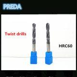 HRC60 Brocas helicoidales de carburo Herramientas para el trabajo con metales