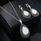 Insieme di cristallo dei monili dell'oro della Cina di disegno delle donne della collana all'ingrosso dell'anello
