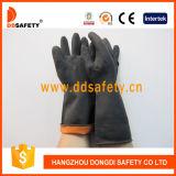Ddsafety 2017 guanti neri del lavoro di industria del lattice ha inserito il Ce