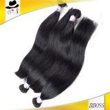 Trama agradável do cabelo do Virgin no cabelo humano peruano