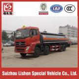 염산 Dongfeng 트럭 8*4 유조선 수송 20 Cbm 묽게 된 액체 화학 트럭