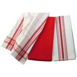100%年の綿材料が付いている手の台所タオル