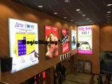 LEDの磁気広告の照らされた映画館の表示