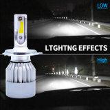 Linterna de las partes del cuerpo LED de la motocicleta de la lente del proyector con H4 la luz del coche LED y la linterna de 7600lm H7 LED