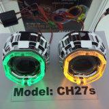 l'angelo dell'obiettivo del proiettore del Bi-Xeno NASCOSTO 35W Eyes l'indicatore luminoso per l'automobile/motociclo
