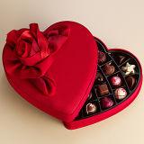 Твердая бумажная коробка подарка упаковки шоколада формы сердца картона