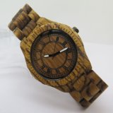 Hl-W010 OEM Zebra Madeira Red Sandalwood Ebony Quartz Watch