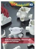 Ce du coude de conduits et de garnitures des systèmes sifflants PVC d'ère (JG 3050)