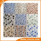 Il colore giallo del nero di verde blu colora le mattonelle di pavimento di ceramica del punto quadrato