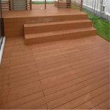 Le Decking de WPC évalue le plancher composé en plastique en bois creux et Grooved