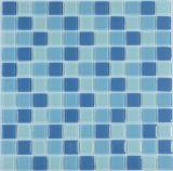 Mattonelle di mosaico di ceramica della piscina della crepa blu del ghiaccio