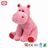 Super doux rose mignon assis Hippo Kids jouet en peluche en peluche