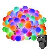 10m 100 Licht van het Koord van de Bol van Kerstmis LEDs RGB