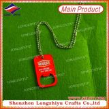 Red Metal Multifunctional Bottle Opener Tag de chien