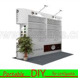 Kundenspezifisches bewegliches modulares DIY Messeen-Ausstellung-Einkommen mit dem Sperrung
