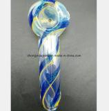 Blaues Glaswasser-Rohr-Filter-Wiederanlauf-Gefäß 4.53 Zoll