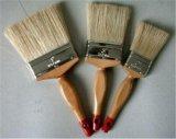 Щетка краски с чисто материалом щетинки и ручкой древесины