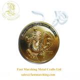カスタム円形浮彫りの大理石3D亜鉛合金の折りえりPinの連続したメダル