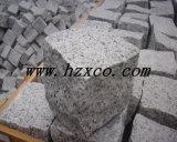 炎にあてられた、磨かれた灰色の花こう岩G603の花こう岩のタイルか平板