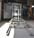 Linha de revestimento automática do pó do trilho com gás do túnel