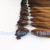Выдвижение человеческих волос микро- шарика естественное