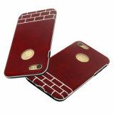 Caja protectora híbrida del teléfono móvil de la goma de la PU para el iPhone 8-Red