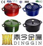 鍋を調理するエナメルの鍋の鋳鉄