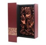 Boîte-cadeau portative de vin de bouteille d'impression UV faite sur commande de qualité double, emballage de papier de boîte à vin