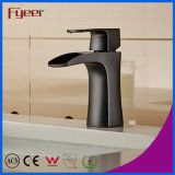 Fyeer New Black Water Tap Waterfall torneira de lavatório de latão