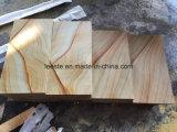 Calidad superior de los materiales de construcción de piedra arenisca amarilla piso