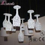 Luminária pingente de alumínio branco para restaurante decorativo