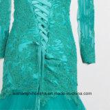 Der reizvolle Mermaind Tulle Spitze-Strand schnüren sich oben Hochzeits-Kleid