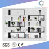 Modernes Büro-hölzernes Bücherregal-niedriger Datei-Schrank mit Fußrollen (CAS-FC1807)