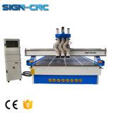 Três fuso Multi-Process CNC Máquina fresadora CNC de trabalho da madeira do ATC