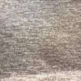 Le tissu de sofa de décoration de maison de velours de polyester avec grillent le traitement