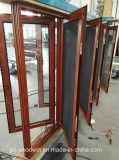 Finestra di alluminio termica della stoffa per tendine di vetratura doppia della rottura di serie 108 con lo schermo insettifugo da Woodwin Guangdong
