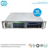 "2U 19"" de l'équipement optique haute performance 16façon 1550nm CATV Erbiun fibre optique de l'amplificateur à fibre dopée (EDFA) amplificateur optique"