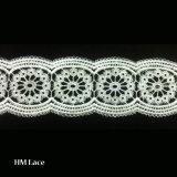 수용성 백색 레이스 리본 손질 두 배 타원형 패턴 L010가 폴리에스테에 의하여 밖으로 속을 비게 한다