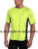 적당 체조 착용 100%년 폴리에스테 건조한 적합 t-셔츠