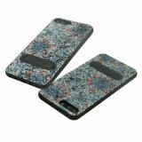 Caja protectora derecha del teléfono móvil de la goma TPU de la PU del brillo para el iPhone 8 más
