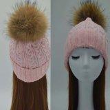 La mode hiver Turban Hat boule de fourrure Crochet Beanies