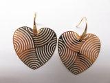 도금되는 금 금관 악기 구리 형식 큰 두 배 심혼 귀걸이 도금