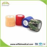 Nichtgewebter Haustier-Sorgfalt-selbstklebender farbiger Tierarzt-Verpackungs-Bindeverband