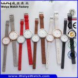 De Polshorloges van de Paren van het Kwarts van de Riem van het Leer van het Horloge van het Embleem van de douane (wy-088GD)