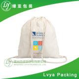 Saco de Drawstring personalizado e recicl do algodão