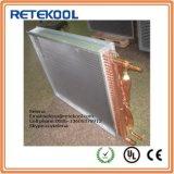 Scambiatore di calore di alluminio dell'aletta del tubo di rame