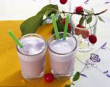 Paja de beber plástica de mezcla multicolora del tubo para la leche de soja, jugo, Ect